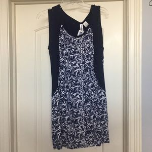 Body-con Blue and white dress from Ross size L